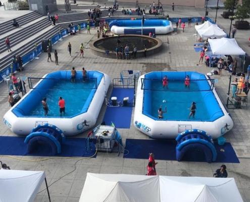 Piscinas deportivas profesionales ubicadas en plaza de Ayuntamiento de Fuenlabrada 3 piscinas 6 carpas