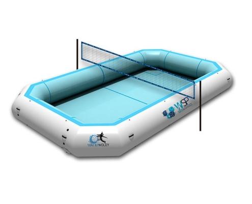 Piscina deportiva profesional WV-800-PRO-render-RED de watervoley con red watervolley con fondo blanco WSP®